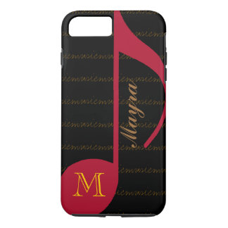 black&red music-note personalized iPhone 7 plus case