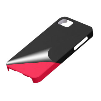 Black Red Page Curl Case-Mate Case Barely There iPhone 5 Case