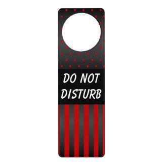 Black & Red Polka Dots | Do Not Disturb Sign