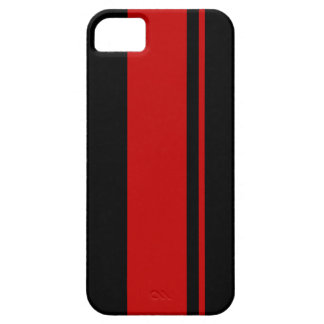 Black Red Racing Stripes - Race Car Inspired iPhone 5 Cases