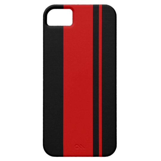 Black & Red Racing Stripes - Race Car