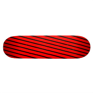 Black & Red Stripes Skate Boards