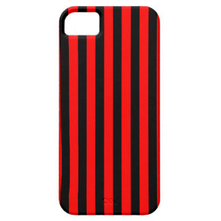 Black Red Stripes vertical iPhone 5 case