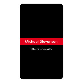 Black Red Vertical Round Consultant Business Card