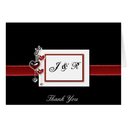 Black & Red Wedding Thank you card