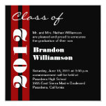 Black Red White Graduation - Change to Any Year 13 Cm X 13 Cm Square Invitation Card