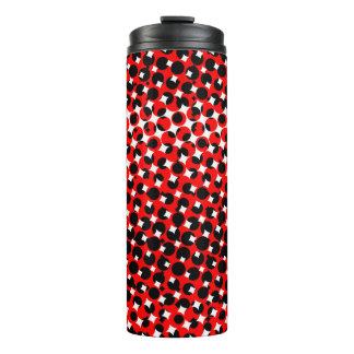 Black Red White Pattern Thermal Tumbler