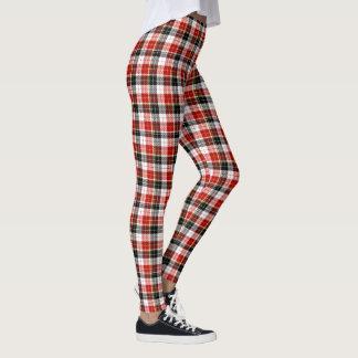 Black, Red & White Plaid Leggings