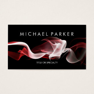 Black Red White Smoke Abstract Business Card