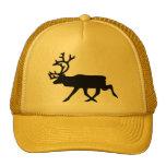 Black Reindeer / Caribou Silhouette Cap