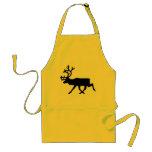 Black Reindeer / Caribou Silhouette Standard Apron