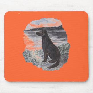 Black Retriever Dog Mouse Pad