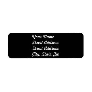 Black Return Address Sticker