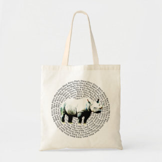 Black Rhino Endangered Species Tote Bag