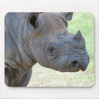 Black Rhino Mouse Mat