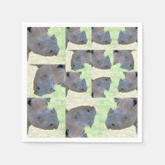 Black Rhino Paper Serviettes
