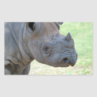 Black Rhino Rectangular Sticker