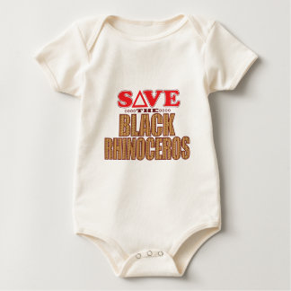 Black Rhino Save Baby Bodysuit
