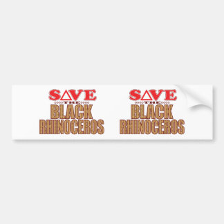 Black Rhino Save Bumper Sticker