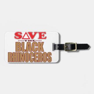 Black Rhino Save Luggage Tag