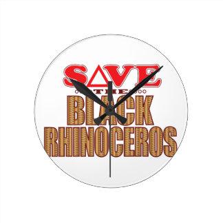 Black Rhino Save Round Clock