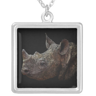 Black Rhino Silver Plated Necklace