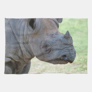 Black Rhino Tea Towel