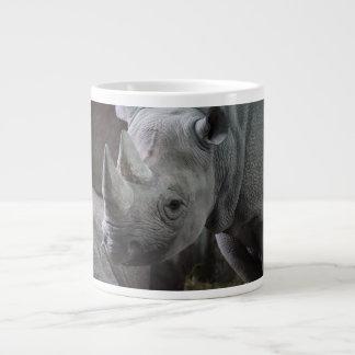 Black Rhinoceros Photo Large Coffee Mug