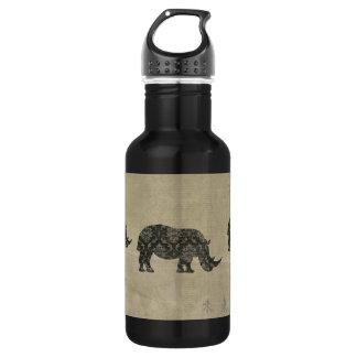 Black Rhinoceroses Silhouette Liberty Bottle 532 Ml Water Bottle