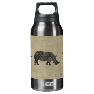 Black Rhinoceroses Silhouette Liberty Bottle 10 Oz Insulated SIGG Thermos Water Bottle