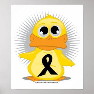 Black Ribbon Duck Posters