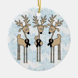 Black Ribbon Reindeer Christmas Ornament