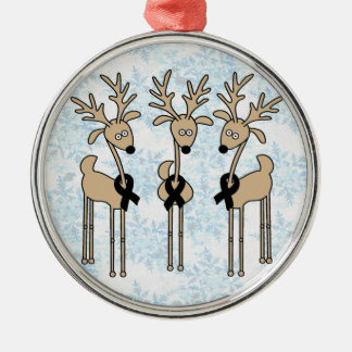 Black Ribbon Reindeer Christmas Ornament