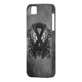 Black Ribbon with Wings iPhone 5 Case