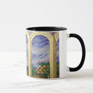 black ringer mug heavenly home