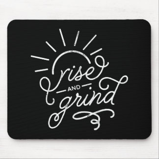 Black Rise and Grind Mouse Pad