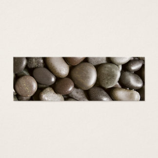 Black River Rock Nature Zen Pebble Mini Business Card