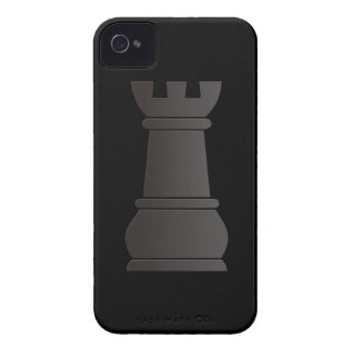 Black rock chess piece Case-Mate iPhone 4 cases