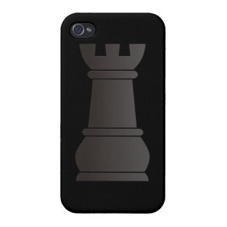 Black rock chess piece cover for iPhone 4