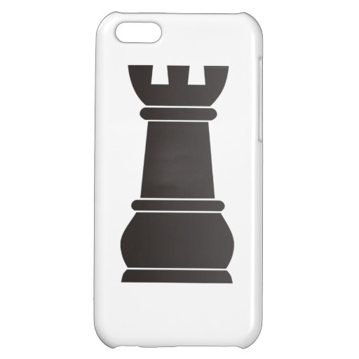 Black rock chess piece iPhone 5C covers