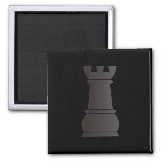 Black rock chess piece fridge magnets