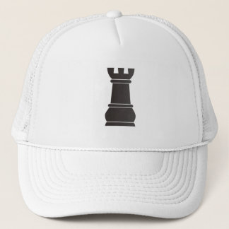 Black rock chess piece trucker hat