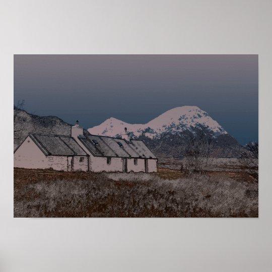 Black Rock Cottage, Glencoe, Lochaber , Scotland Poster