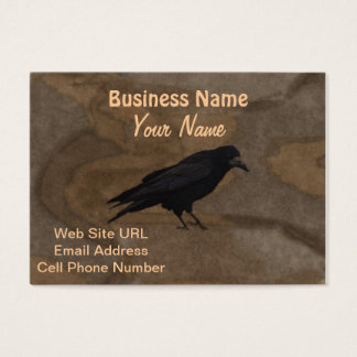 Black Rook British Corvid and Rustic Background Business Card