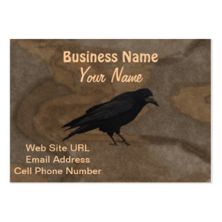 Black Rook British Corvid and Rustic Background Pack Of Chubby Business Cards