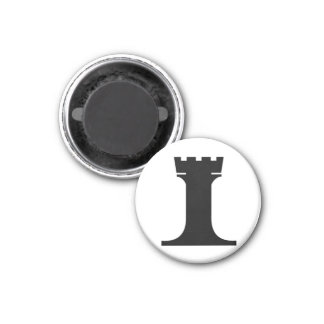 black rook (you need 2) 3 cm round magnet