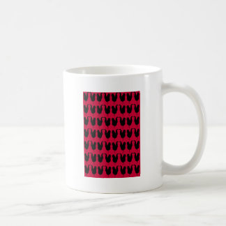 Black rooster coffee mug