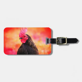 Black Rooster - Personalizable Luggage Tag