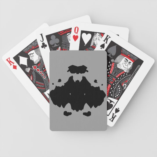 Black Rorschach Art on Bicycle Playing Cards