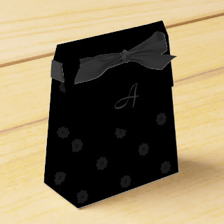 Black Rose Favor Box with Monogram Wedding Favour Box